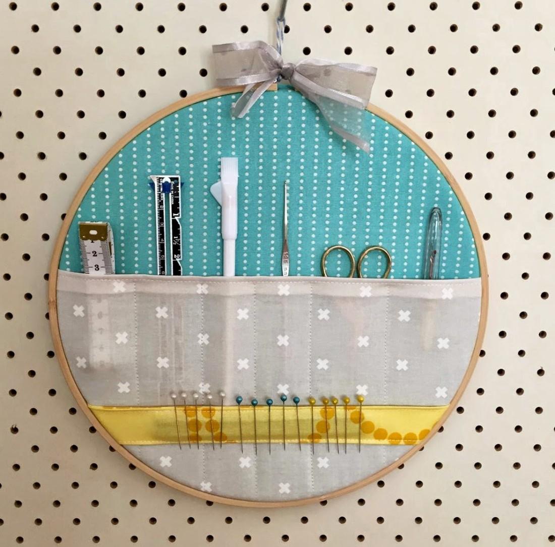 Как сделать швейный органайзер из пялец