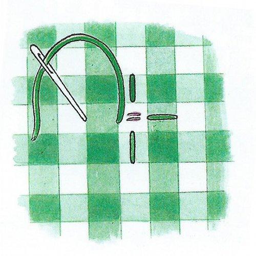 вышивка цыплячья лапка