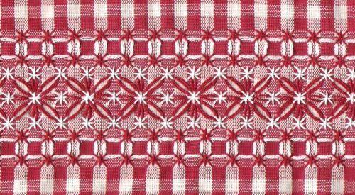 Как вышивать на клетчатой ткани, или Техника Chicken scratch