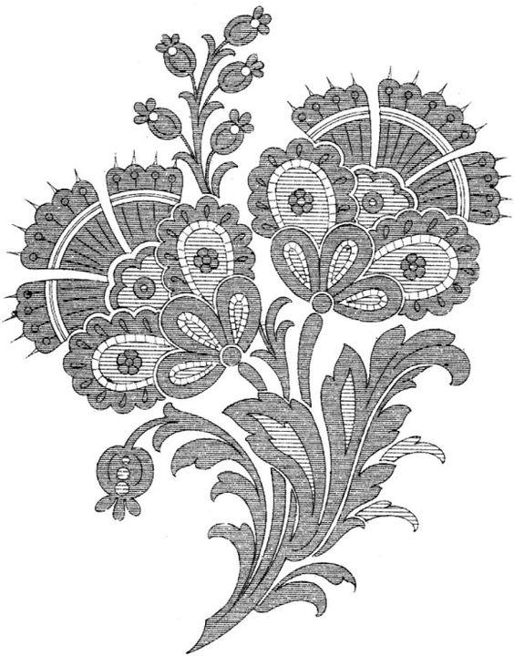 крюил якобинская вышивка схема