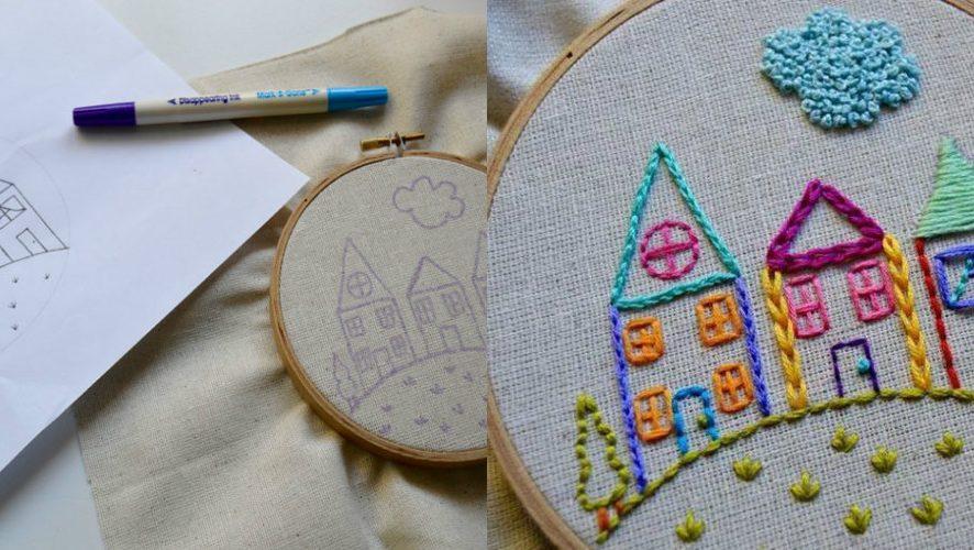 Проще простого: вышиваем домики