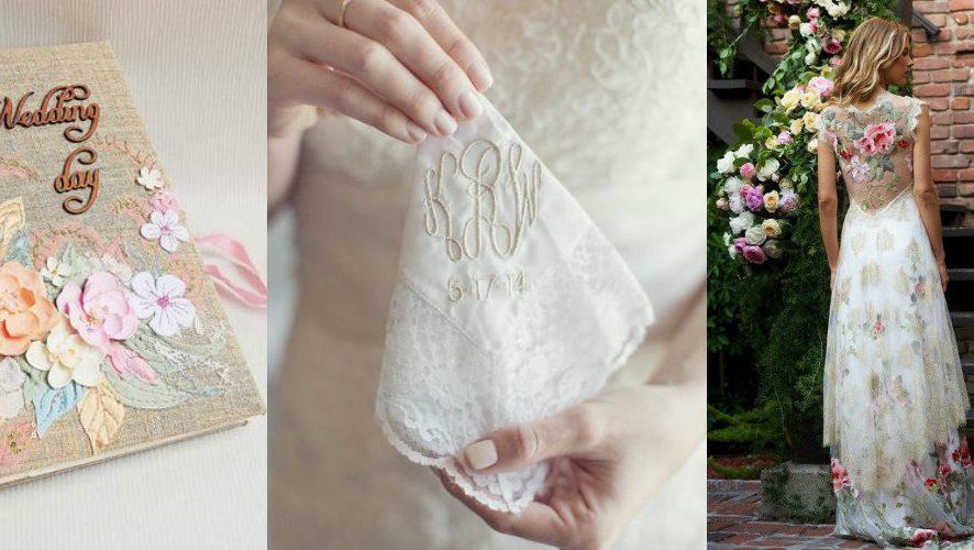 Свадебная вышивка: 6 лучших идей для необычного подарка