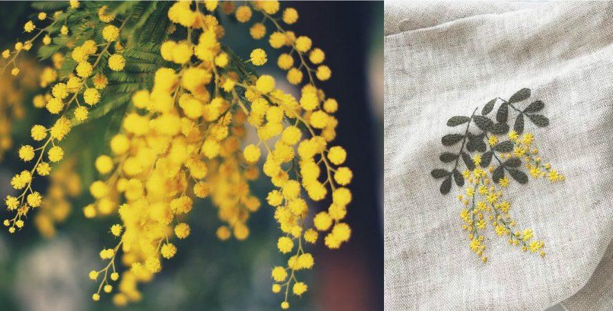 Inspiration: Вышиваем мимозу