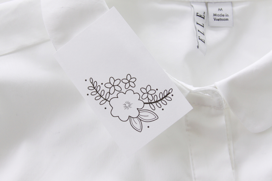 вышивка на воротнике