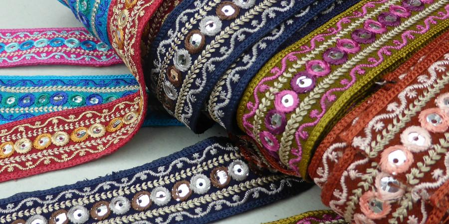 индийская вышивка шиша с зеркалами