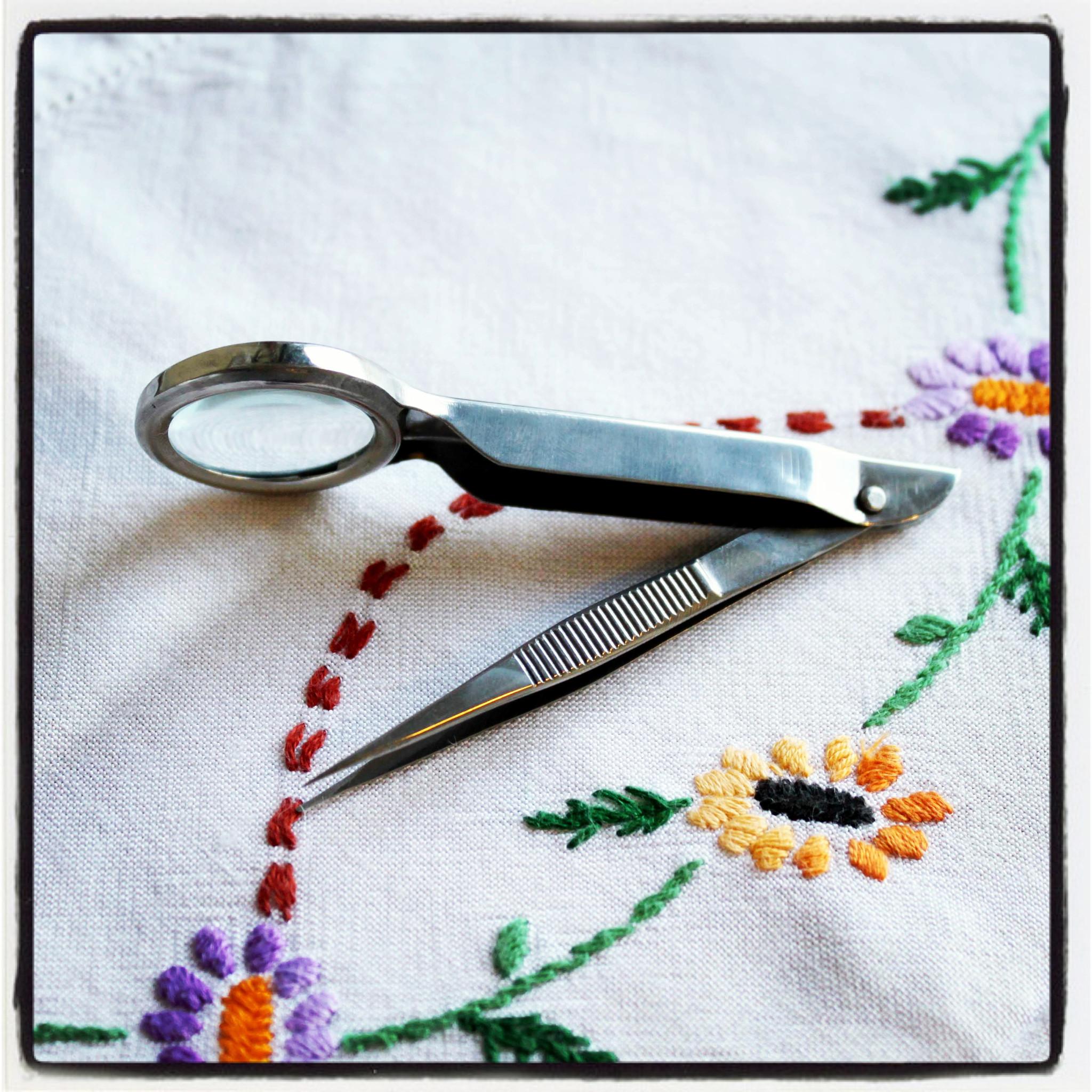 пинцет для вышивки