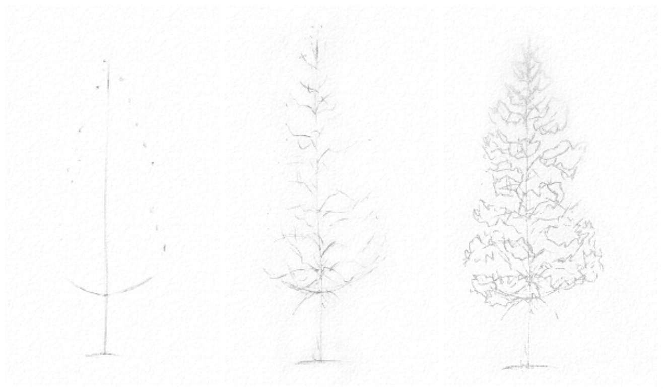 как вышить елку