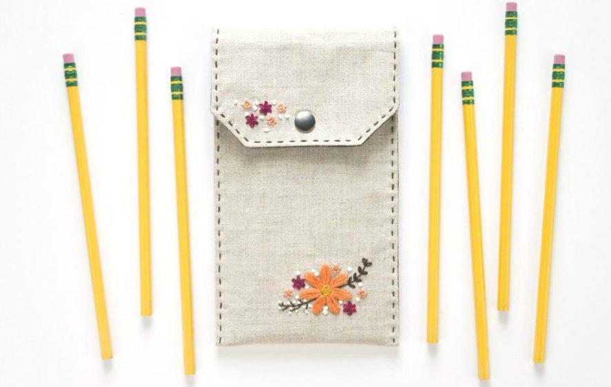 Мастер-класс: Как сшить простой пенал с вышивкой