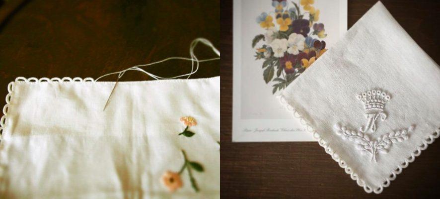 Как обработать края вышивки воздушными петельками: мастер-класс