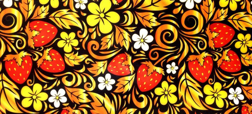 Создаем текстильный браслет с вышивкой по мотиву хохломской росписи: мастер-класс