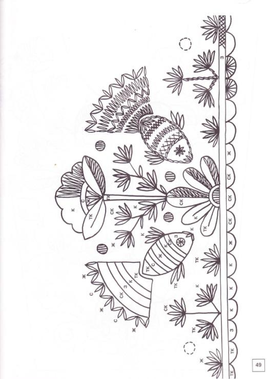 Схемы для вышивки владимирской гладью 15